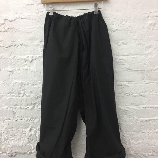 A Détacher Piero Pants, Cotton Poplin Pants with Drawstring Waist, Black