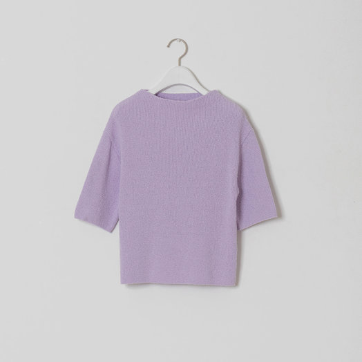 Amomento Cropped Knit Top, Lilac