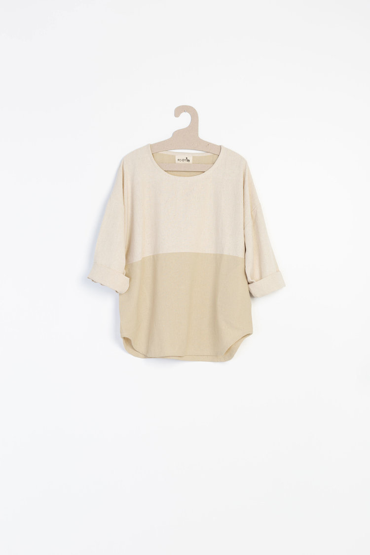 PO-EM Everyday Top in Natural Combo