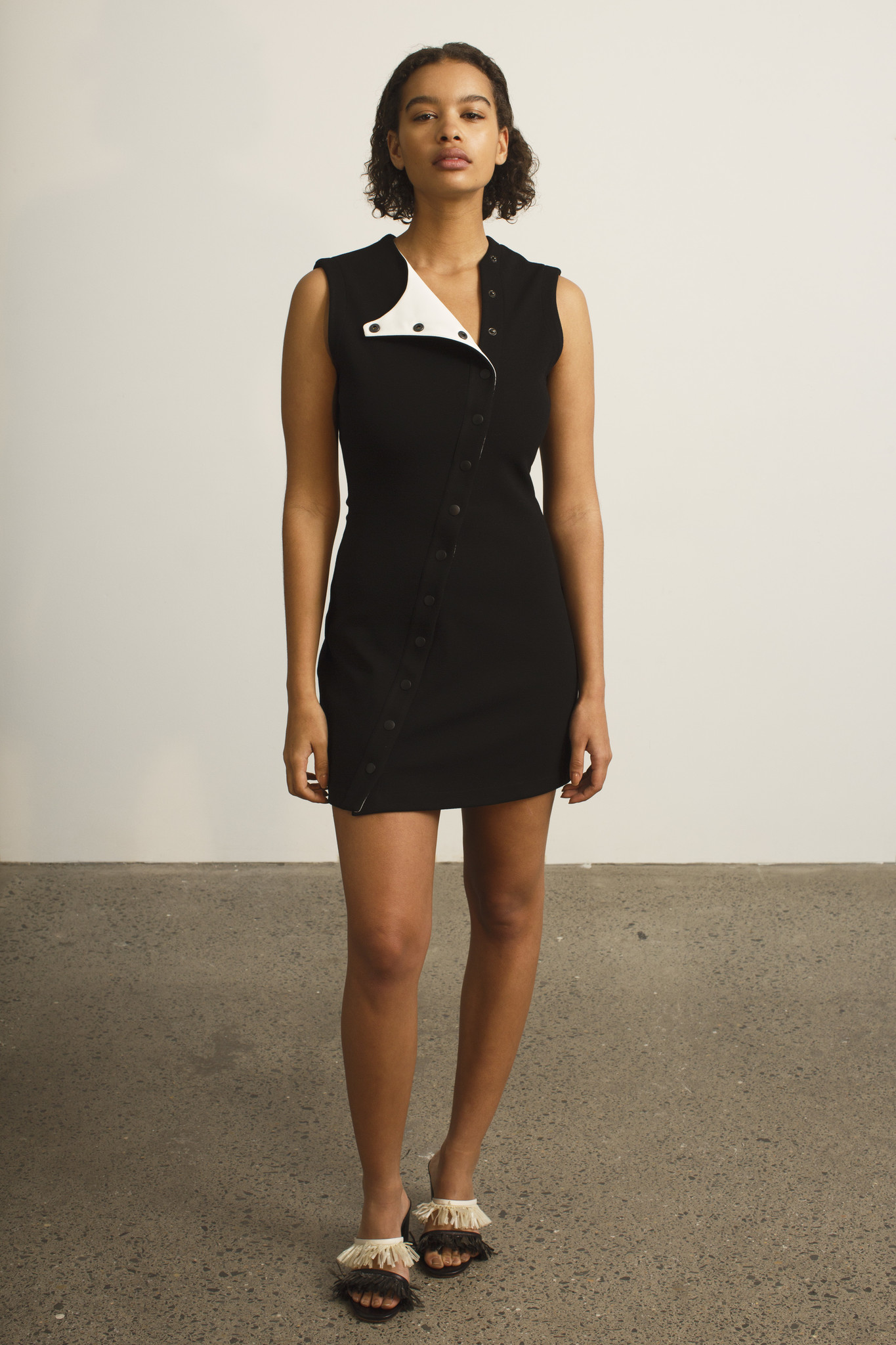 Paris Georgia Track Dress Black