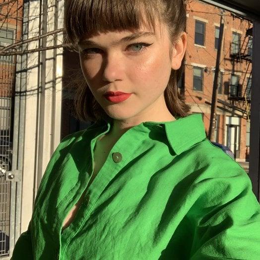 Rachel Antonoff Green Miriam Knee Length Dress