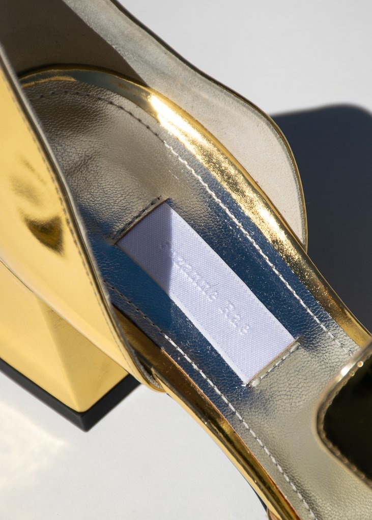 Suzanne Rae Gold D'Orsay Heels
