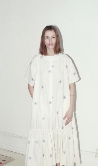 Mr Larkin Nadine Dress, Flower Embroidery