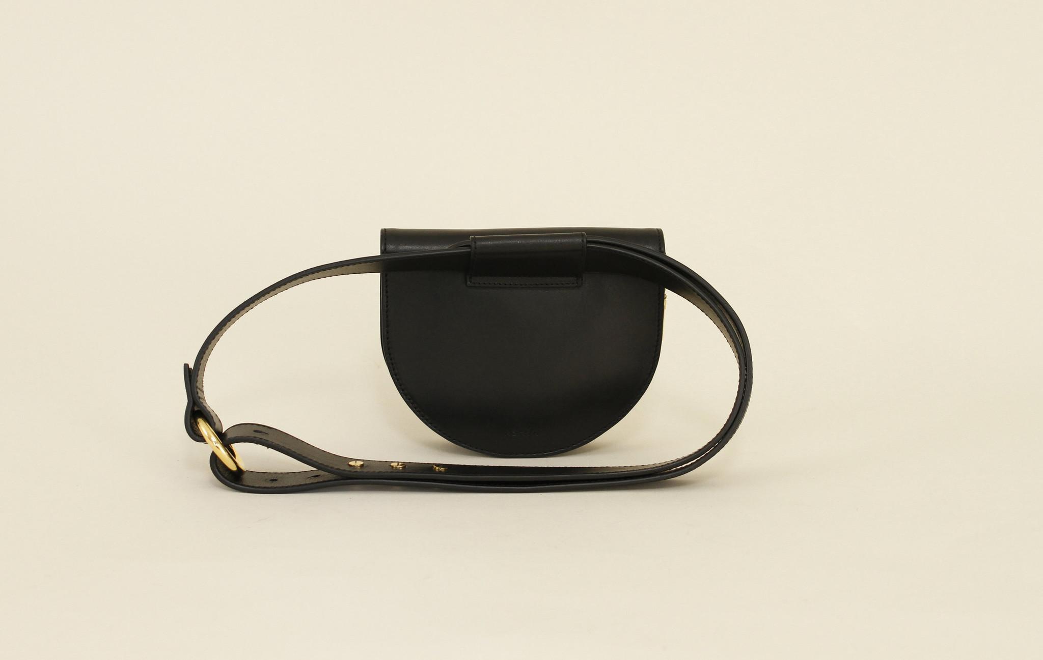 Palmetto Mini Belt Bag in Onyx