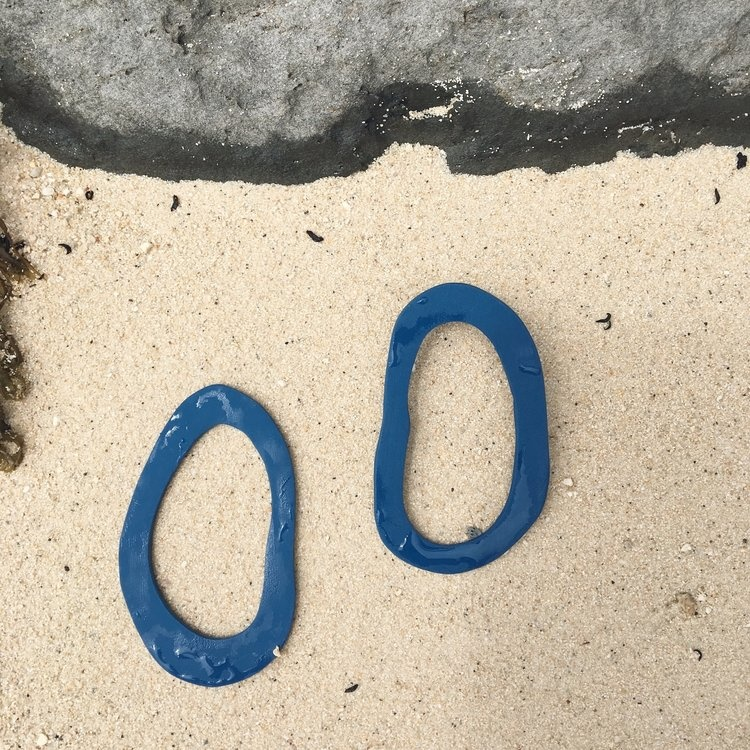 hello zephyr Faaite Earrings, Ocean