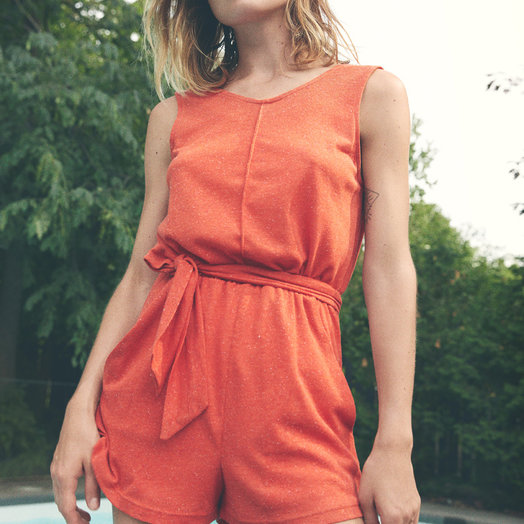 Eve Gravel Andalusia Jumpsuit, Tomato
