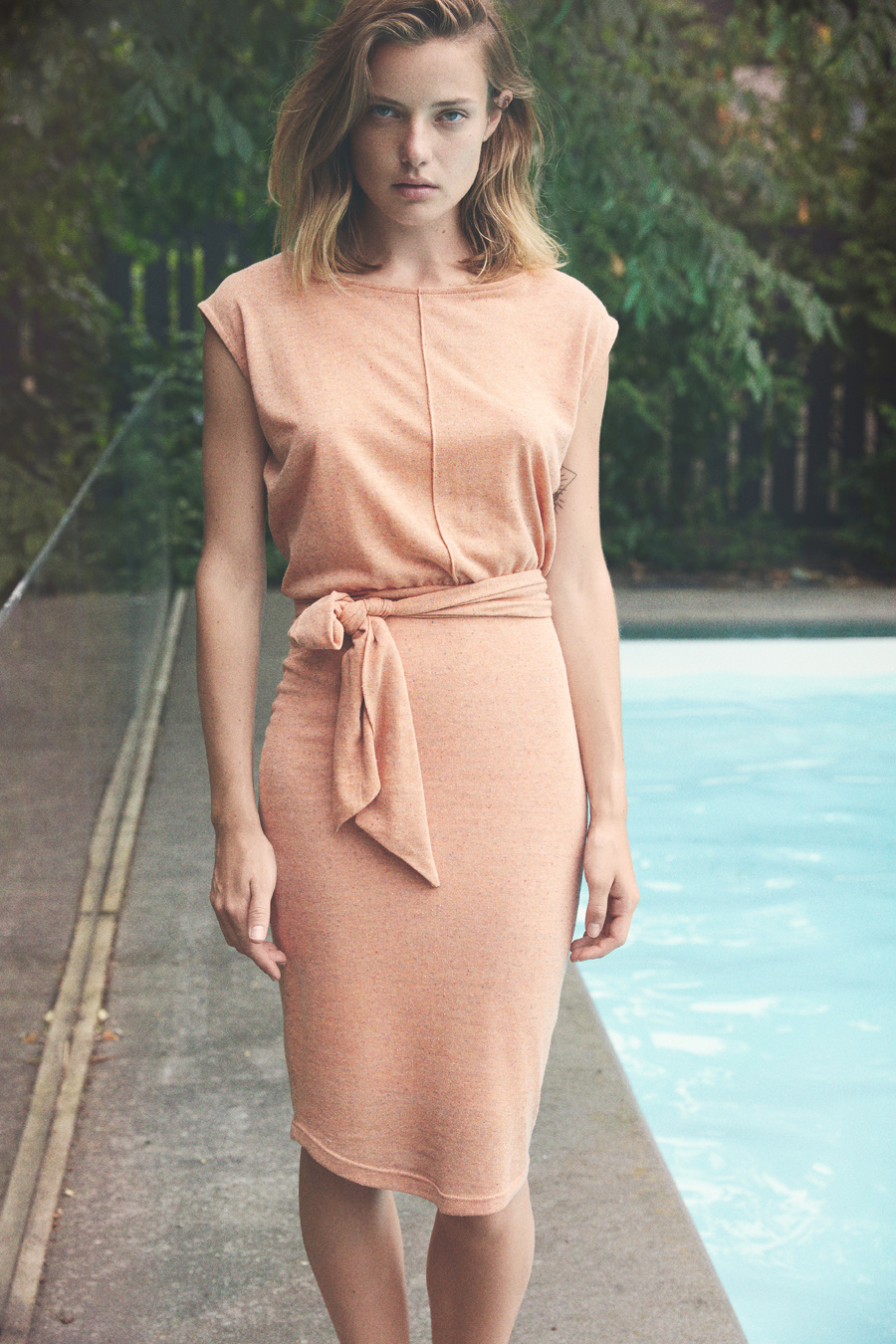 Eve Gravel Amores Dress, Pamplemousse