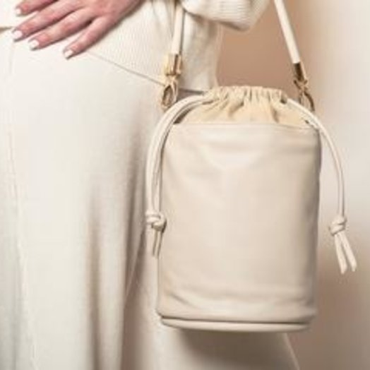 Hozen Bucket Bag, Vegan, Ecru