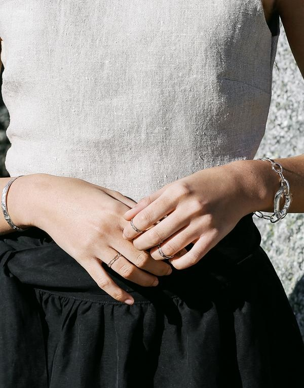 Cled High Tide Oval Chain Bracelet, Clear Air