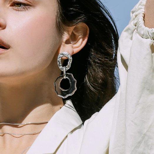Cled High Tide Earrings, Clear Air