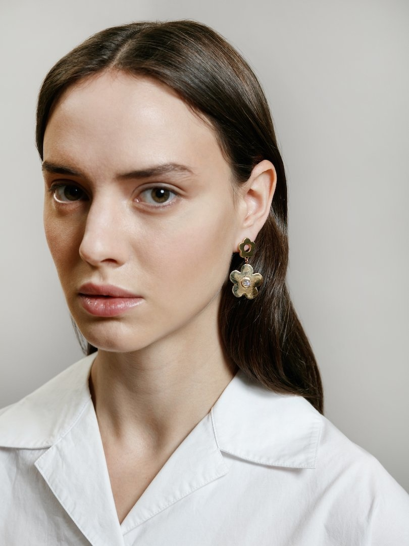 Wolf Circus Paisley Drop Earrings Gold