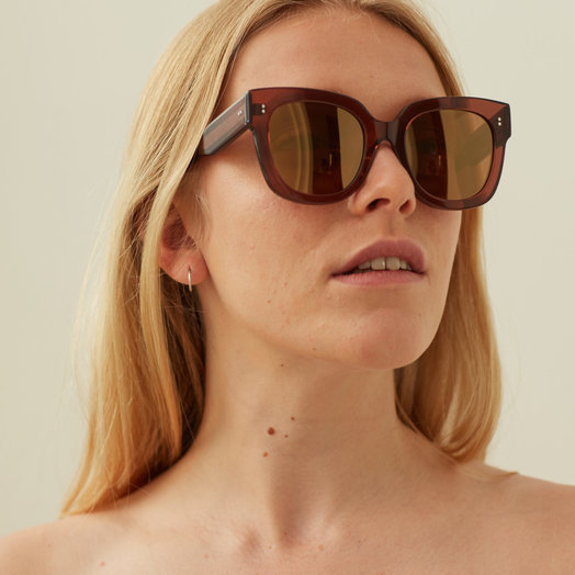 Chimi Coco #008 Sunglasses with Mirror Lenses