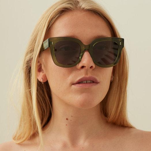 Chimi Kiwi #008 Sunglasses with Black Lenses