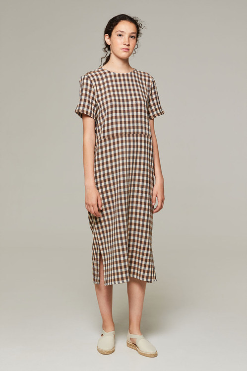Rita Row Dalyan Dress, Brown Gingham