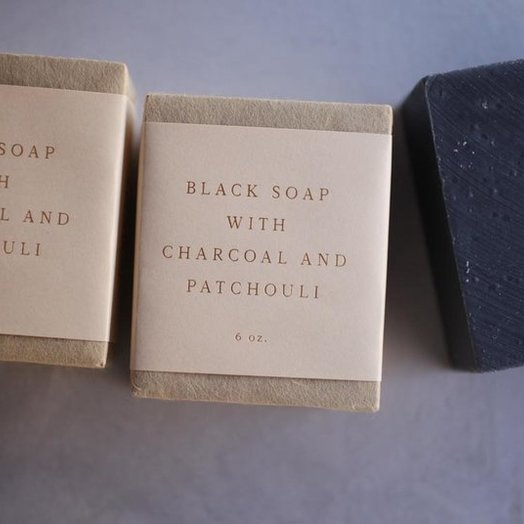 Saipua Black Soap With Charcoal and Patchouli