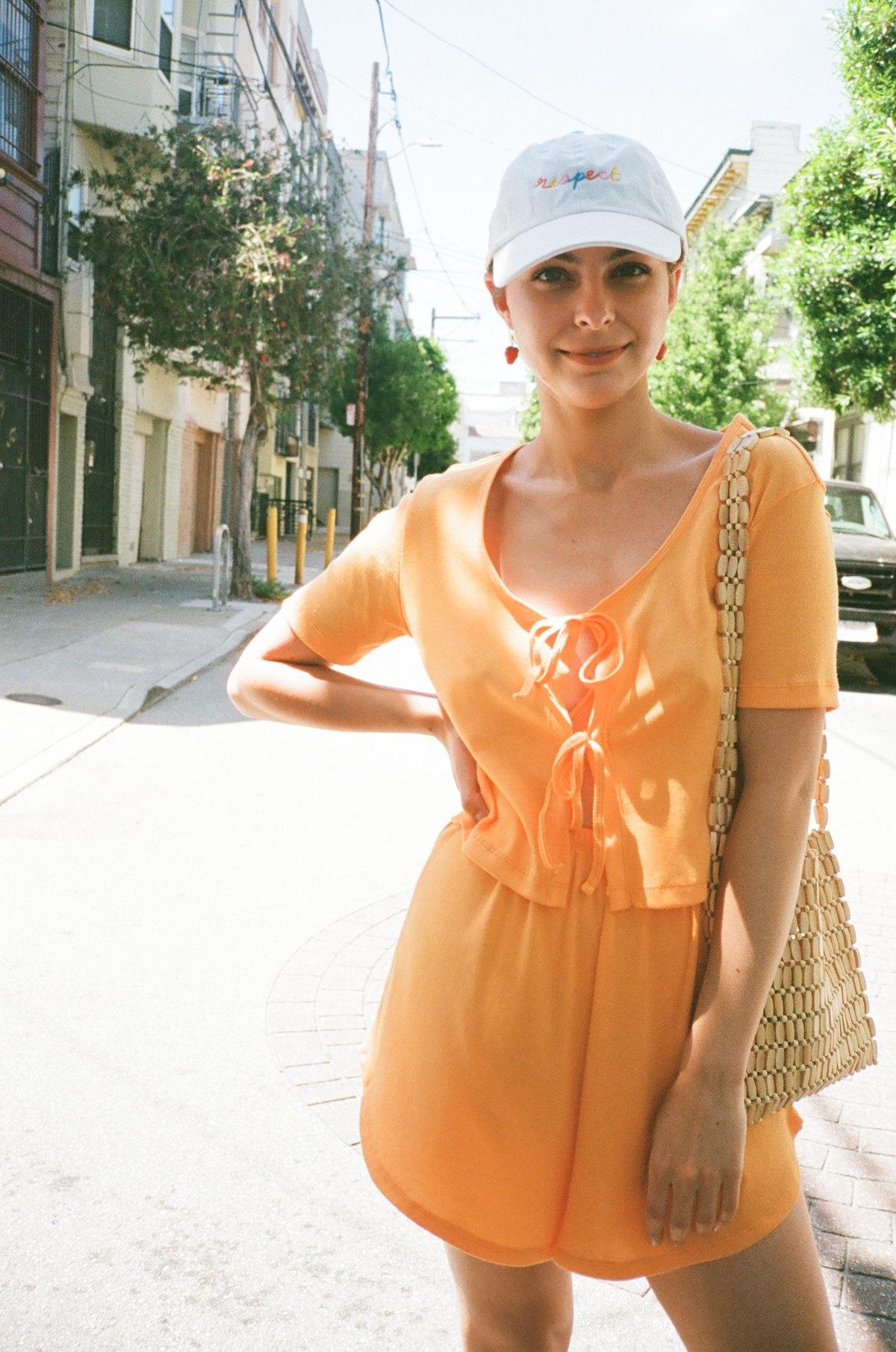 Lisa Says Gah Mia Lounge Set, Tangerine