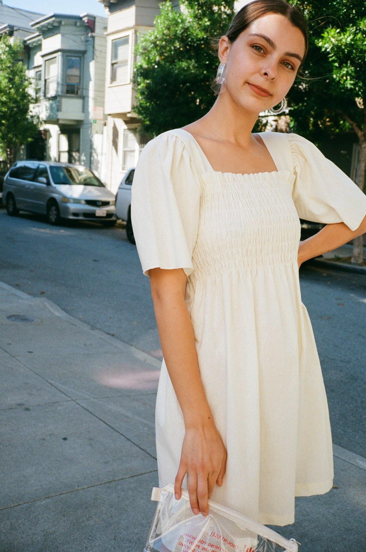 Lisa Says Gah Toni Dress, Oat Milk