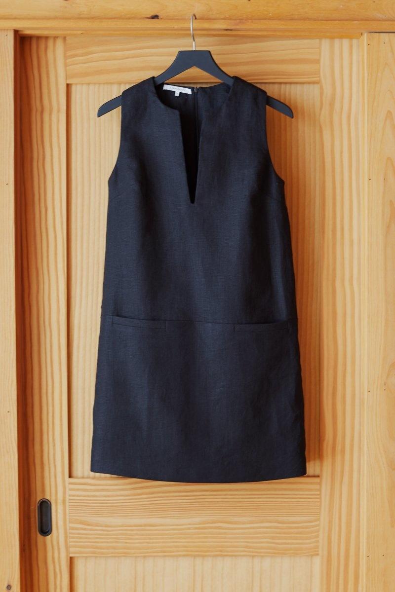Emerson Fry Shift Dress, Black Linen