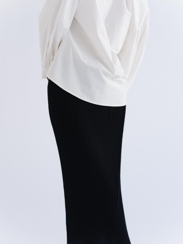 Mijeong Park Ribbed Knit Skirt, Black
