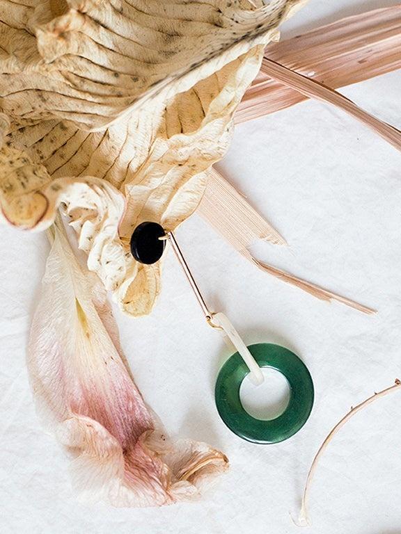 IUO Sphere Earrings, Green