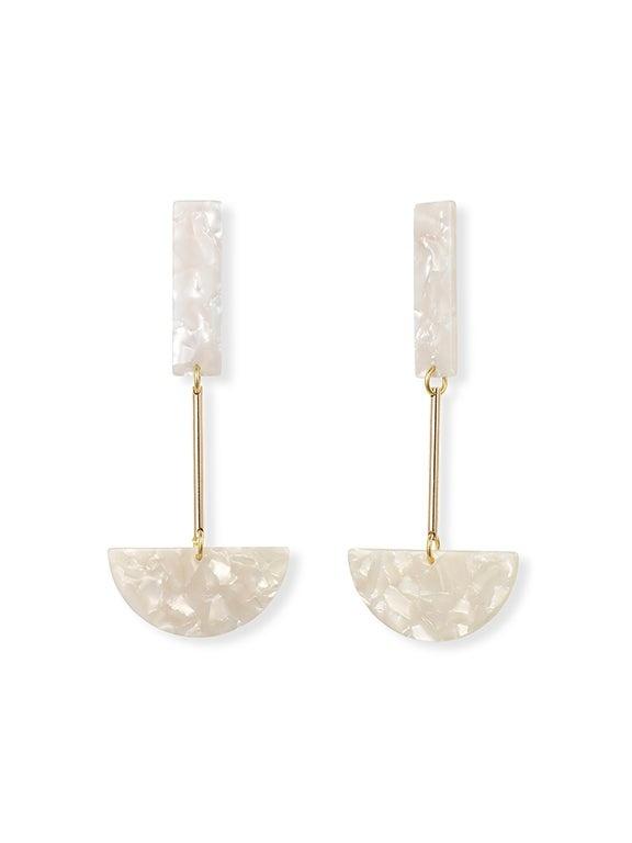 IUO Anchor, Ivory Earrings