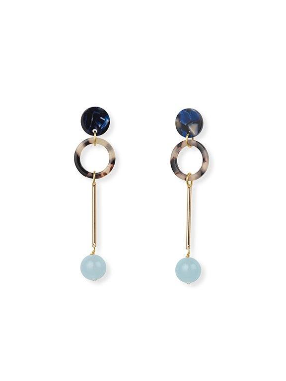 IUO Jade Earrings, Sky
