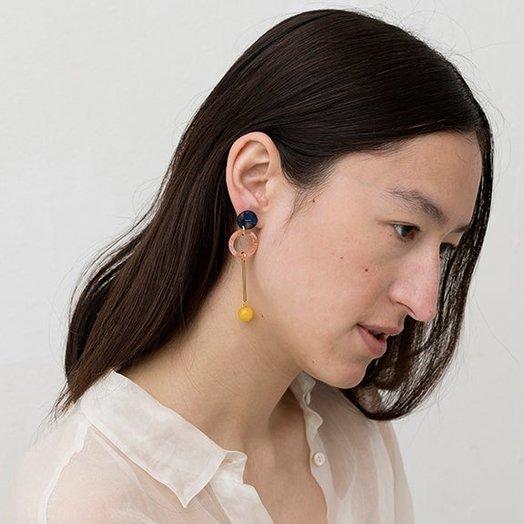 IUO Jade Earrings, Lemon