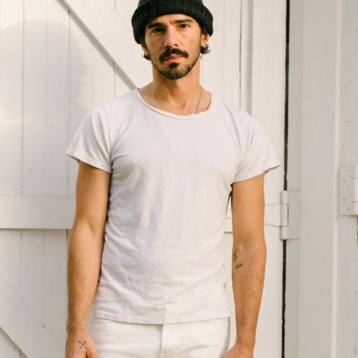 Jungmaven Lorel Tee, Washed White