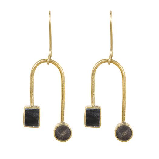 Soko Mari Curved Dangle Earrings