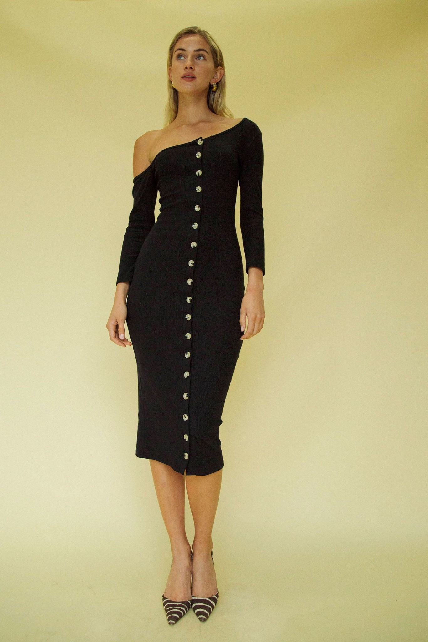 Line by K Gemma Dress Black
