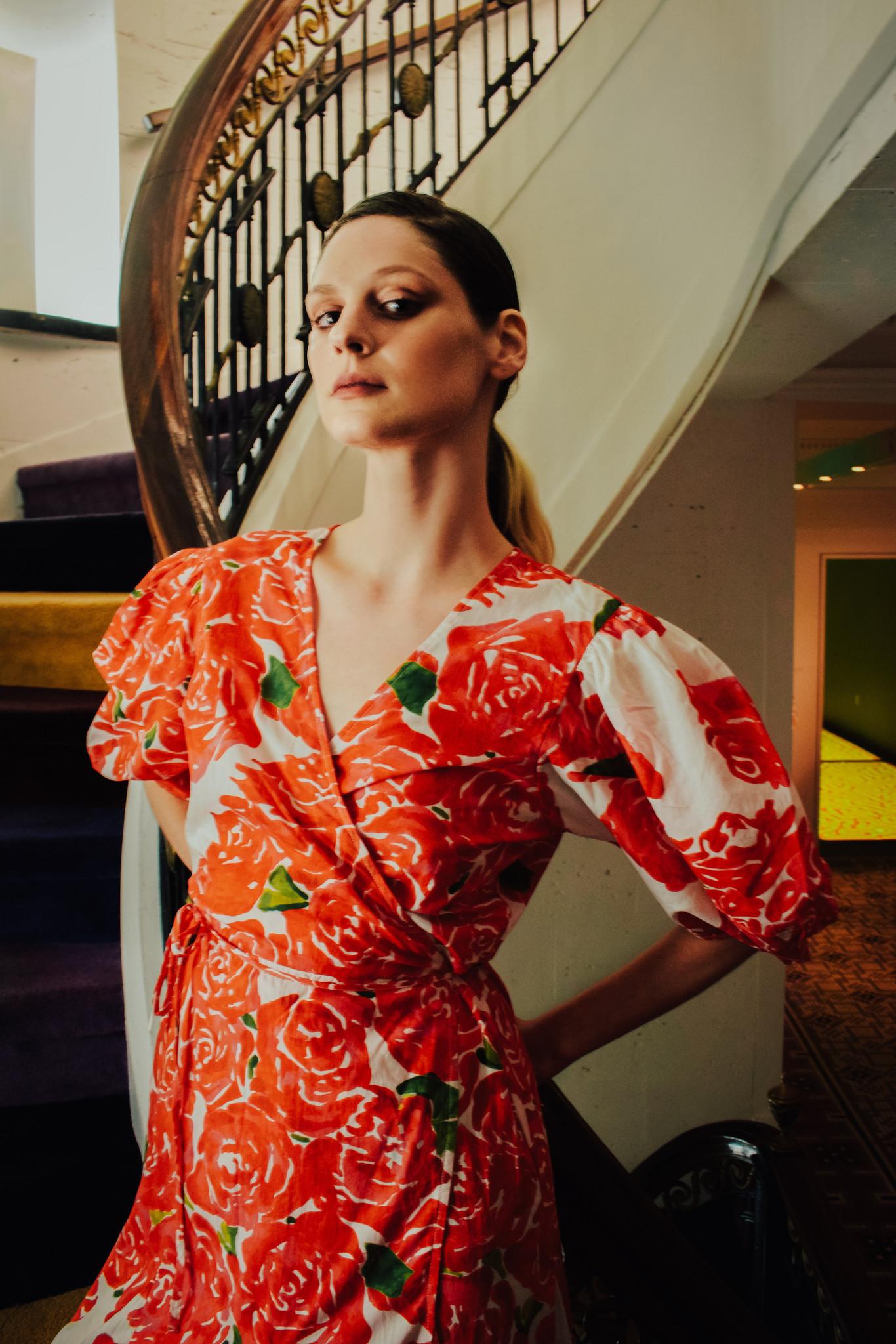 Rhode Fiona Dress, Rose Bouquet