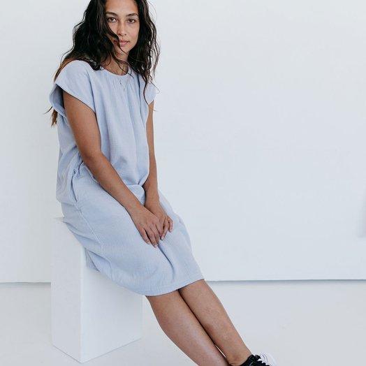Suunday Cocoon Dress, Gray Dawn