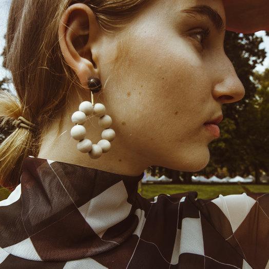 Soko Benga Wood  Earrings