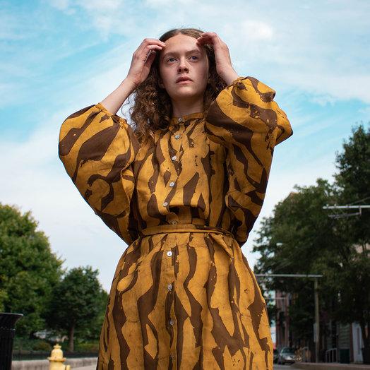Osei Duro Flouncy Dress, Campfire Ban