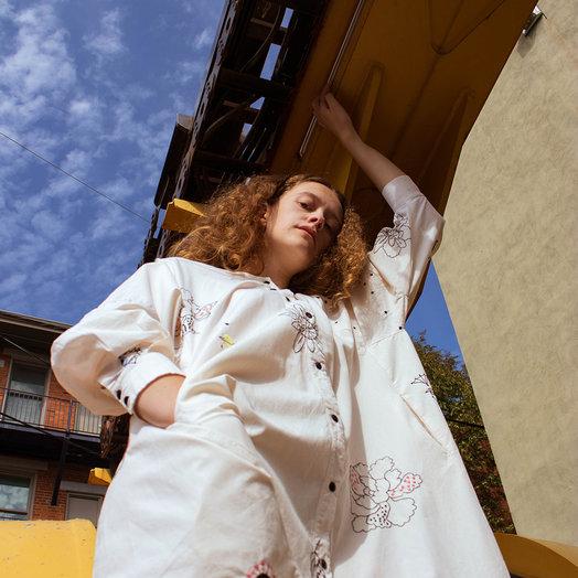 Mr Larkin Nadine Embroidered Dress, Beige