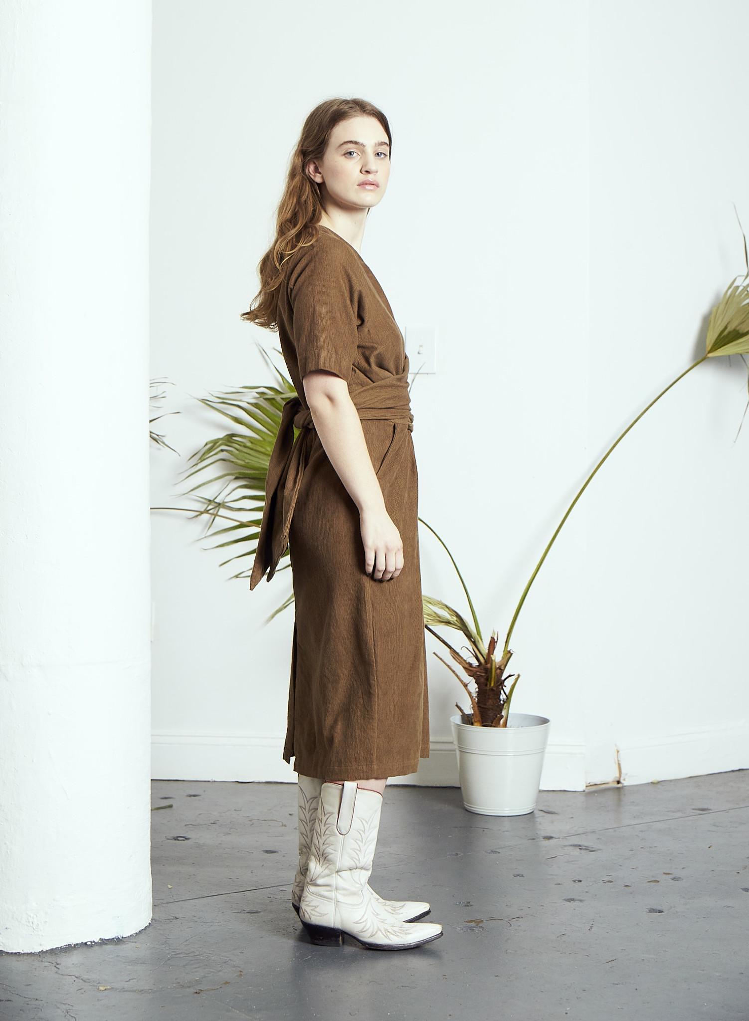 Rujuta Sheth Vienna Wrap Dress, Moss