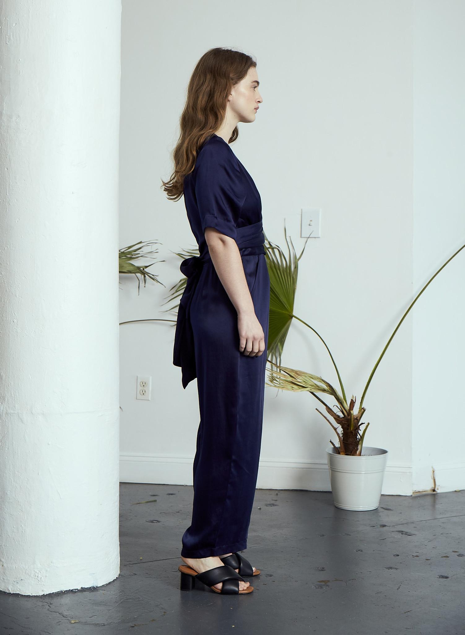Rujuta Sheth Paris Wrap Jumpsuit, Royal