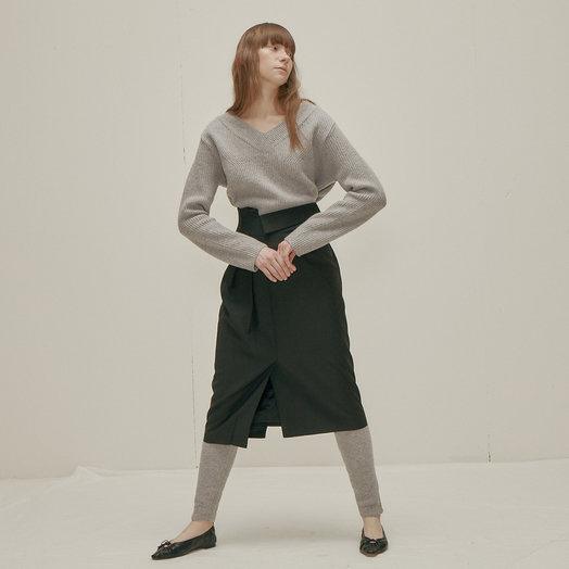 Wnderkammer Wool Sweater Leggings, Grey