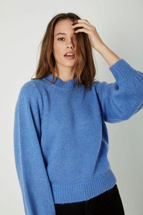 Rollas Fluffy Gigi Sweater, French Blue