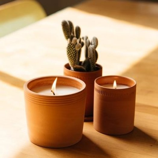 PF Candle Lavender, 8 OZ Terra Soy Candle