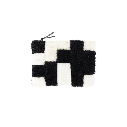 PrimeCut Blocks Shearling Pouch