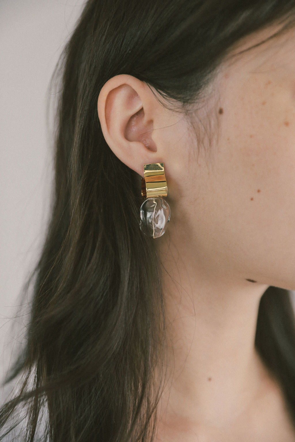 Wolf Circus Ash Clear Earrings, Gold