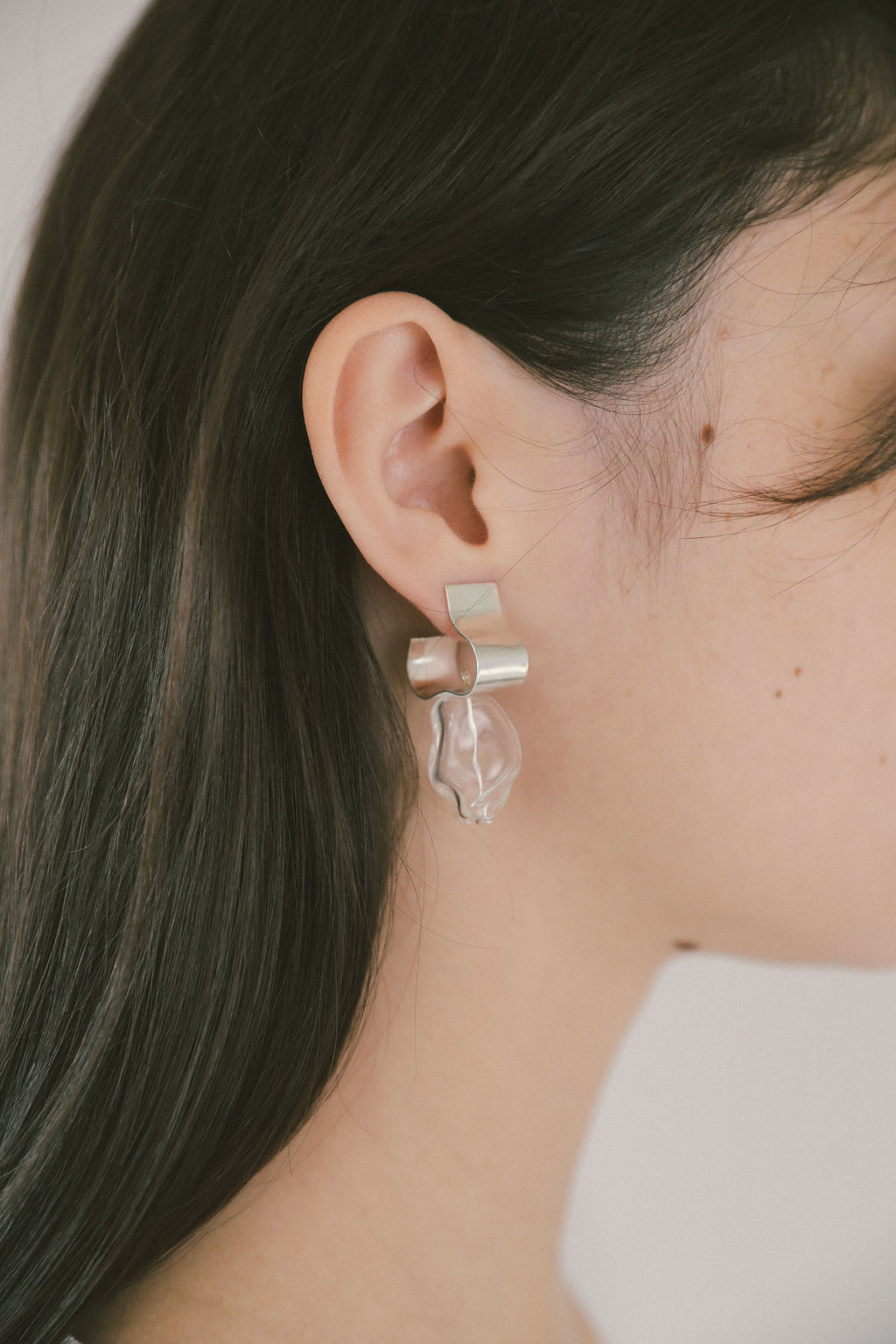 Wolf Circus Ash Clear Earrings, Silver