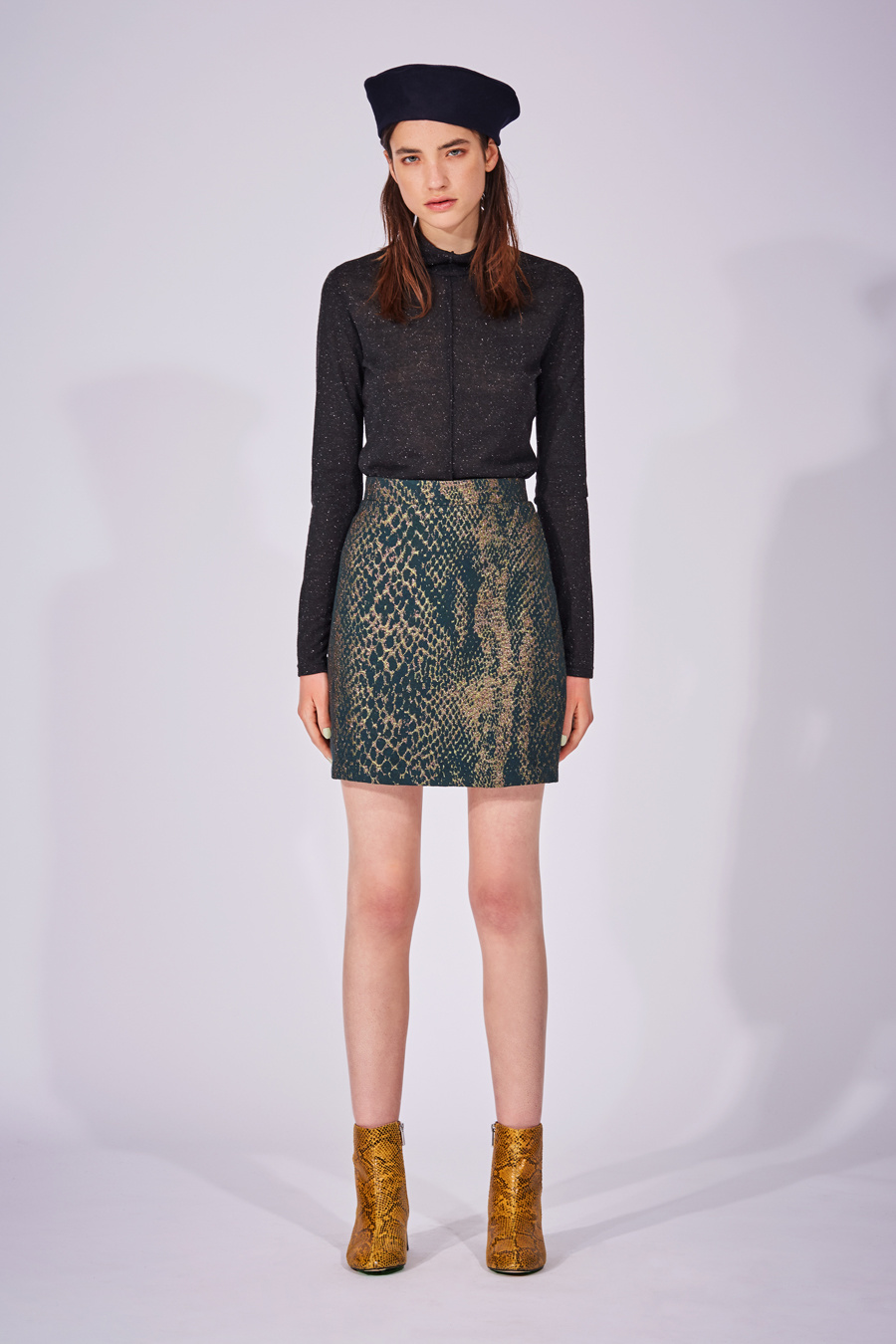 Eve Gravel Digital World Snake Print, Skirt