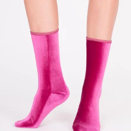 Velvet Socks by Simone WIld Velvet Socks, Magenta