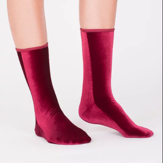 Velvet Socks by Simone WIld Velvet Socks, Wine