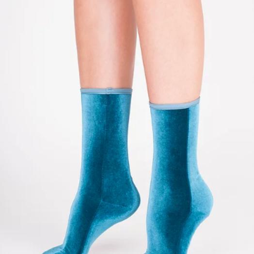 Velvet Socks by Simone WIld Velvet Socks, Aqua