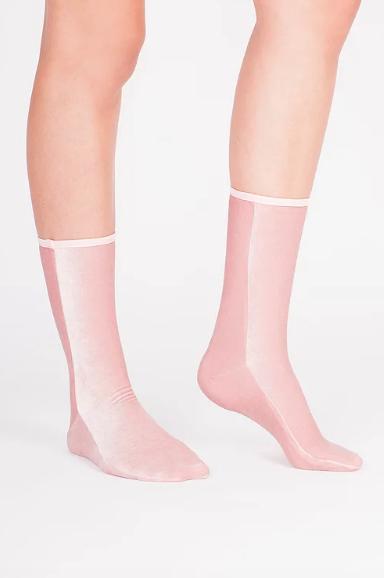 Velvet Socks by Simone WIld Velvet Socks, Light Pink