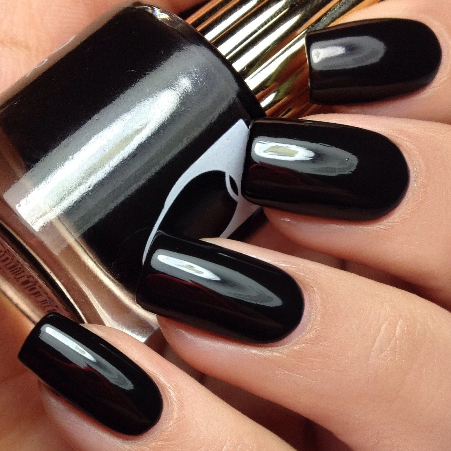 Floss Gloss Black Holy, Jet Black One Coat Creme
