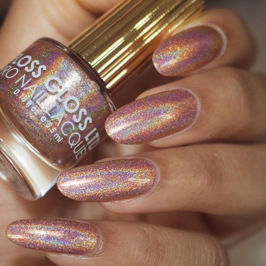 Floss Gloss Disco Dust, Rose Gold Linear Holo